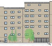 Secondary elevations will be faced in brick