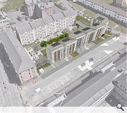 The new homes respond in scale to neighbouring tenements