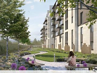 Fresh visuals drum up interest in Finnieston flats