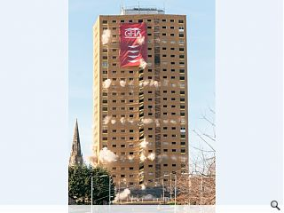 Safedem complete demolition of Roystonhill tower block