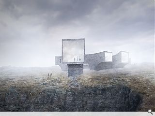 St Kilda visitor centre emerges from the mist