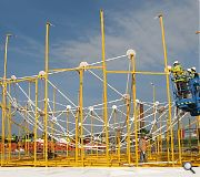 The structure is the largest ever to take a dip in Highland's zinc galvanizing bath