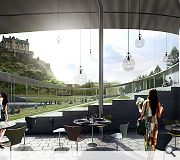 Bjarke Ingels Group aim to unite the dividedd landscape with a visually transparent canopy