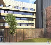 A new lecture theatre will be added to the rear