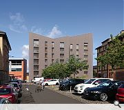 Finished properties will be faced in grey-brown brick with tenement scale windows