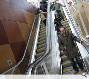 72 steps have been replaced by three banks of escalators
