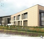 The school will be faced with multi-brick complemented by feature dark coloured cladding panels