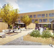 The school will be faced in brick and polycarbonate cladding