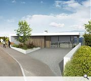 A separate planning application outlines plans for a 3 bedroom, home, by the same architects, across the road