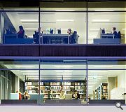 The refurbished library space has a floor area of 28,175sq/m