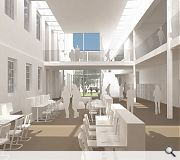 The marr College extension will connect to the existing building on three levels