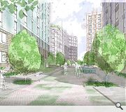 Generous pedestrian priority routes will lead through the site