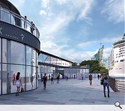 Passengers will be enticed ashore by a purpose built gallery, restaurant and visitor centre