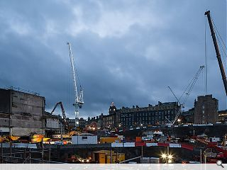 Edinburgh St James rises as construction gets underway