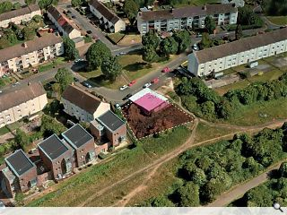 Crewe Toll infill apartments to lien Telford Path