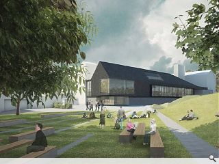 RMJM submit Glasgow University 'urban barn'