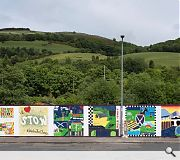 Hart has worked with local schools to design custom murals for site hoardings