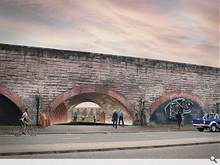 Laurieston Arches reimagined as traffic-free pedestrian link