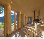 Heat seekers can also enjoy expansive views of Loch Tay
