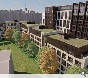 A flanking residential block will complete the street as an active travel route