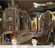 Cowcaddens Streetscape in the Fifties is Gray's most famous painting