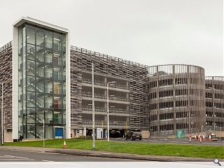 Hypostyle unveil timber clad car park at Glasgow hospital