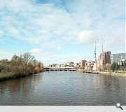 New land will be created on the north bank of the Clyde between the Victoria and Glasgow bridges