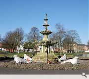 prior to renovation work the fountain was in a sorry state