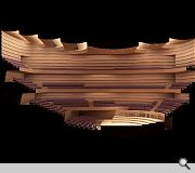 The precise dimensions of the performance space were calculated with Nagata Acoustics