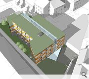 Flats will be faced in alternating grey and yellow rainscreen panels