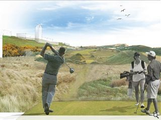 Trump mark halfway point of Menie masterplan