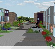 Private amenity spaces will be provided via rear garden spaces