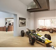 Two historic racing cars driven by Clark will be placed mon display