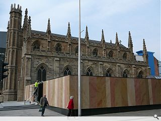 St Andrew's Cathedral cloister garden nears completion