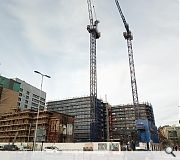 A second tower crane has been erected to propel the development skyward