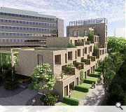 The accommodation mix will include a variety of townhouses with their own rooftop gardens