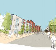 Acres of car parking would give way to a purpose-built 'High Street' while retaining the existing mall