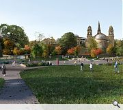 A new family area will be created to the west of the restored Ross Fountain
