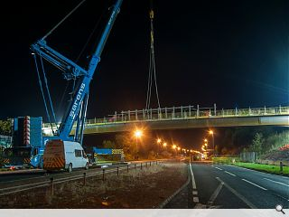 A77 flyover bridges installed