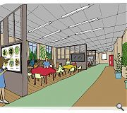 A mix of uses including a small cinema/classrooms, cafe, shop and gallery are envisaged for the school