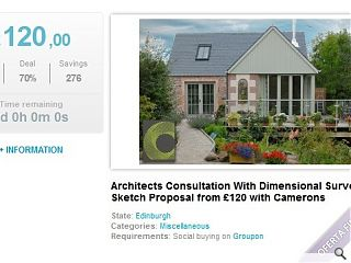 Camerons Architects become first UK practice to offer services on Groupon