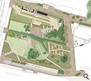 The gardens will be reorganised in favour of pedestrian usage with only service access permitted for vehicles