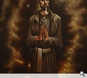 Peter Howson has painted a 10ft x 7ft painting of Ogilvie which now takes pride of place in the renovated Cathedral