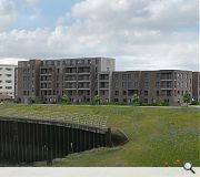 The design seeks to knit in with neighbouring developments
