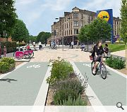 Public realm enhancements will improve the atteractiveness of walking and cycling