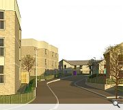 The affordable homes will be built on playing fields at the former St Martins Primary