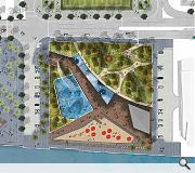 The public space will help join the dots along the waterfront