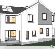Gardens will be a minimum of 100sq/m for detached and semi-detached properties