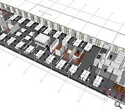 Interior spaces will be decluttered to provide more attractive lettable floor space