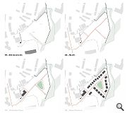 Existing woodland will be retained and augmented by new planting